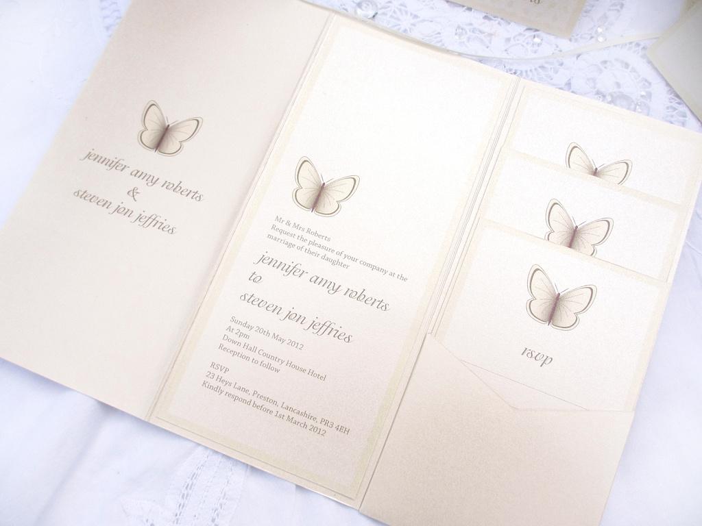beautiful butterfly wedding invitation - love invited - luxury, Wedding invitations