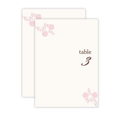 vintage rose vintage rose table number 1 50 give each of your tables a ... Vintage Table Numbers