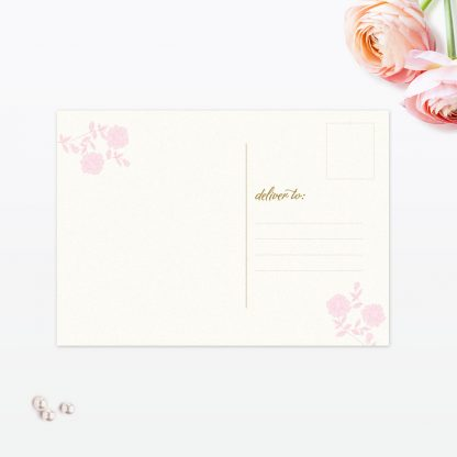 Vintage Rose Thank You Card Back