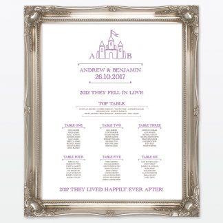 Fairytale Table Number - Wedding Stationery