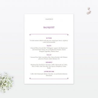 Fairytale Table Number - Wedding Stationery