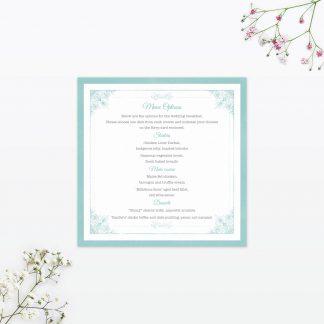 Vintage Chic Invitation Menu - Wedding Stationery