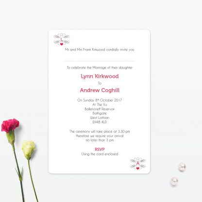 Las Vegas Day Wedding Invitation