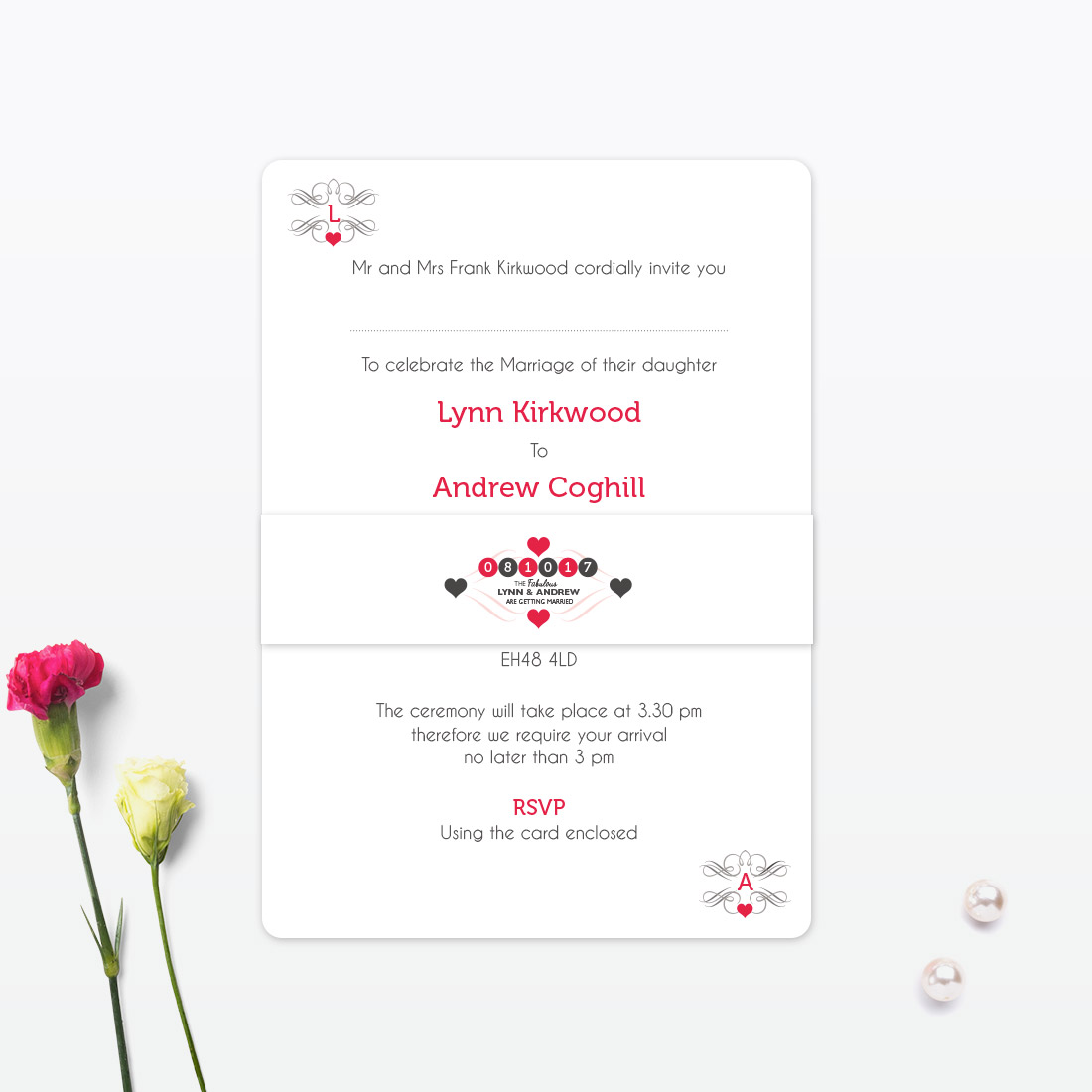 Viva Las Vegas Evening Invitation - Love Invited - Luxury Wedding ...