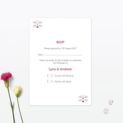 Las Vegas Wedding RSVP Card