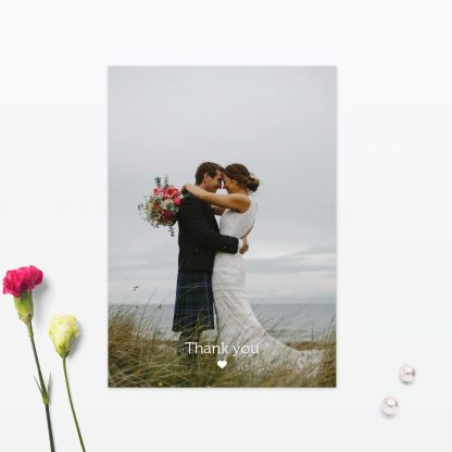 Las Vegas Wedding Photo Thank You Card