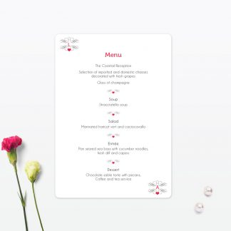 Las Vegas Wedding Table Menu
