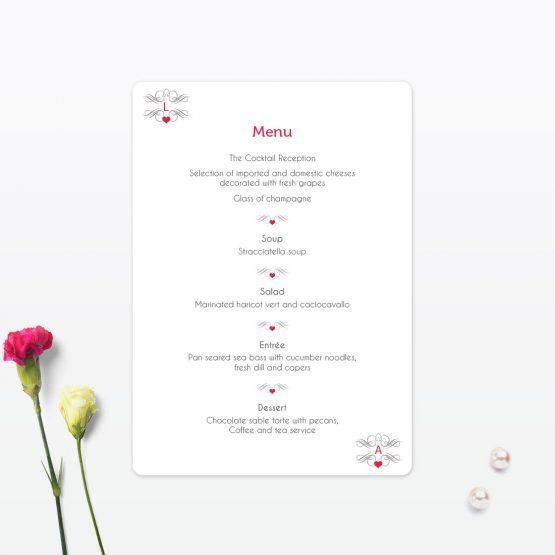 Las Vegas Wedding Table Menu