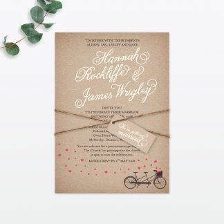 Hearts & Bicycles Wedding Stationery