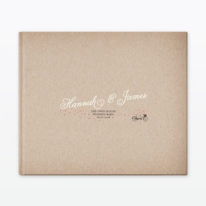 Hearts & Bicycles Photo Book - Wedding Stationery