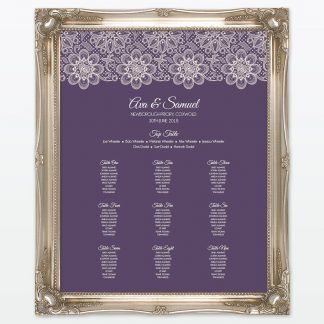 Floral Lace Photo Book - Wedding Stationery