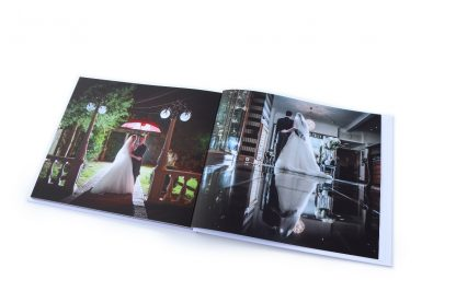 Personalised wedding photo book