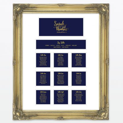 Glitz and Glamour Table Plan - Wedding Stationery