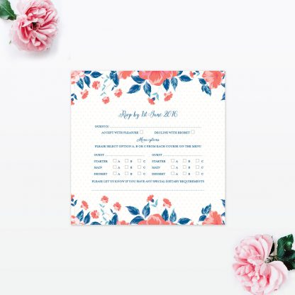 Vintage Floral RSVP - Wedding Stationery