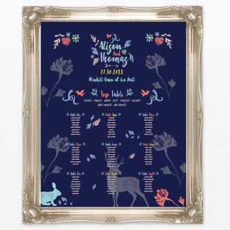 Flora and Fauna Table Plan - Wedding Stationery