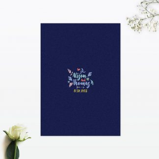 Flora and Fauna Invitation Menu - Wedding Stationery