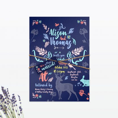 Flora and Fauna Wedding Invitation - Wedding Stationery