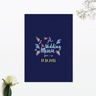 Flora and Fauna Table Menu - Wedding Stationery