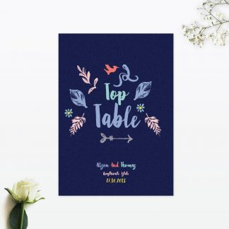Flora and Fauna Table Numbers - Wedding Stationery