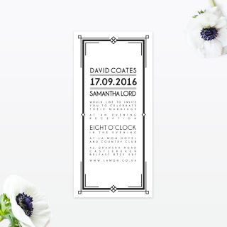 Art Deco Wedding Stationery collection