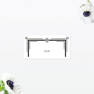 Art Deco Place Card - Wedding Stationery