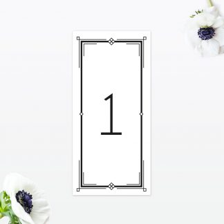 Art Deco Table Number - Wedding Stationery