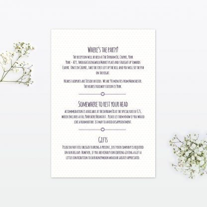 Country Bunting Additional Information - Wedding Stationery