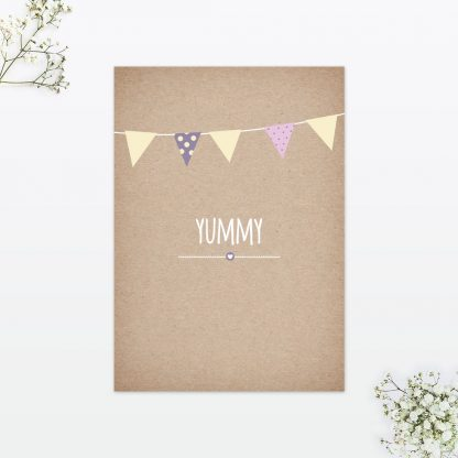 Country Bunting Table Menu - Wedding Stationery