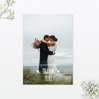 Country Bunting Thank You Card - Wedding Stationery