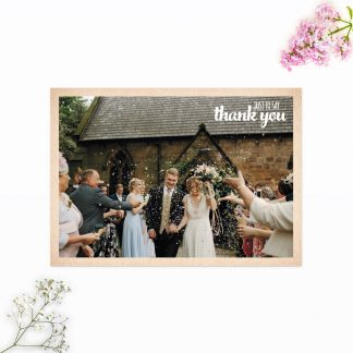 Country Rustic Thank you card - Wedding Stationery
