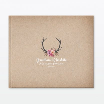 Country Rustic Photo Book - Wedding Stationery