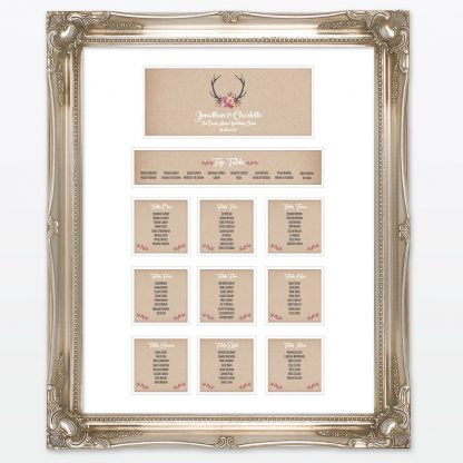 Country Rustic Table Plan - Wedding Stationery