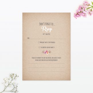 Country Rustic RSVP - Wedding Stationery