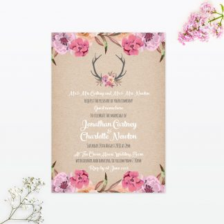 Country Rustic Wedding Invitation - Wedding Stationery