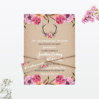 Country Rustic Wedding Stationery Collection