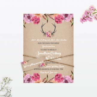 Country Rustic Wedding Stationery