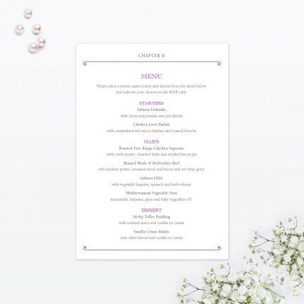 fairytale invitation menu - Fairy Tale Wedding Invitations