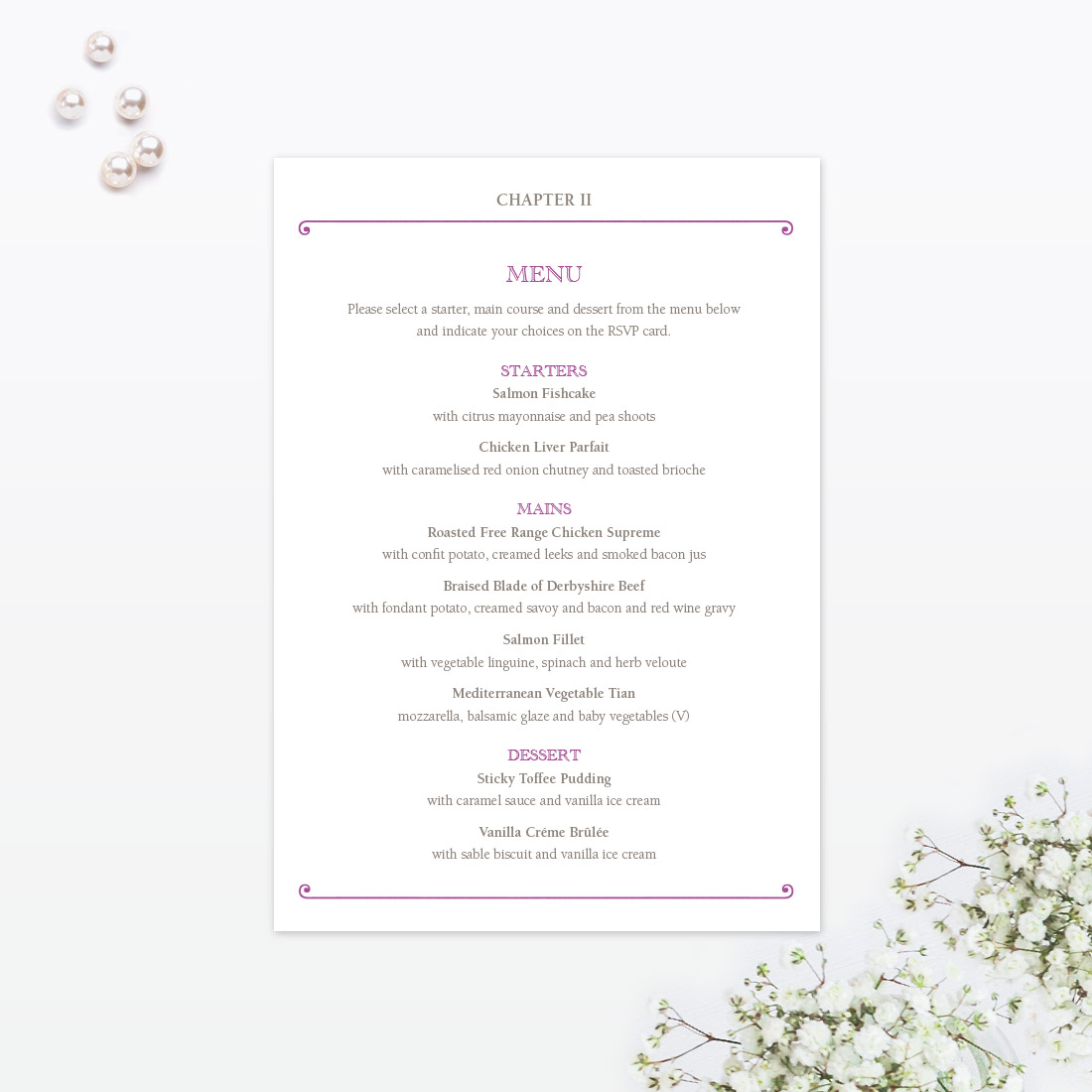 Fairytale Invitation Menu - Love Invited - Luxury Wedding ...