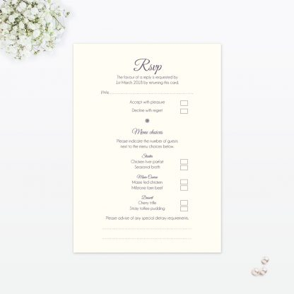 Floral Lace RSVP - Wedding Stationery