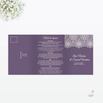 Floral Lace Wedding Invitation - Wedding Stationery