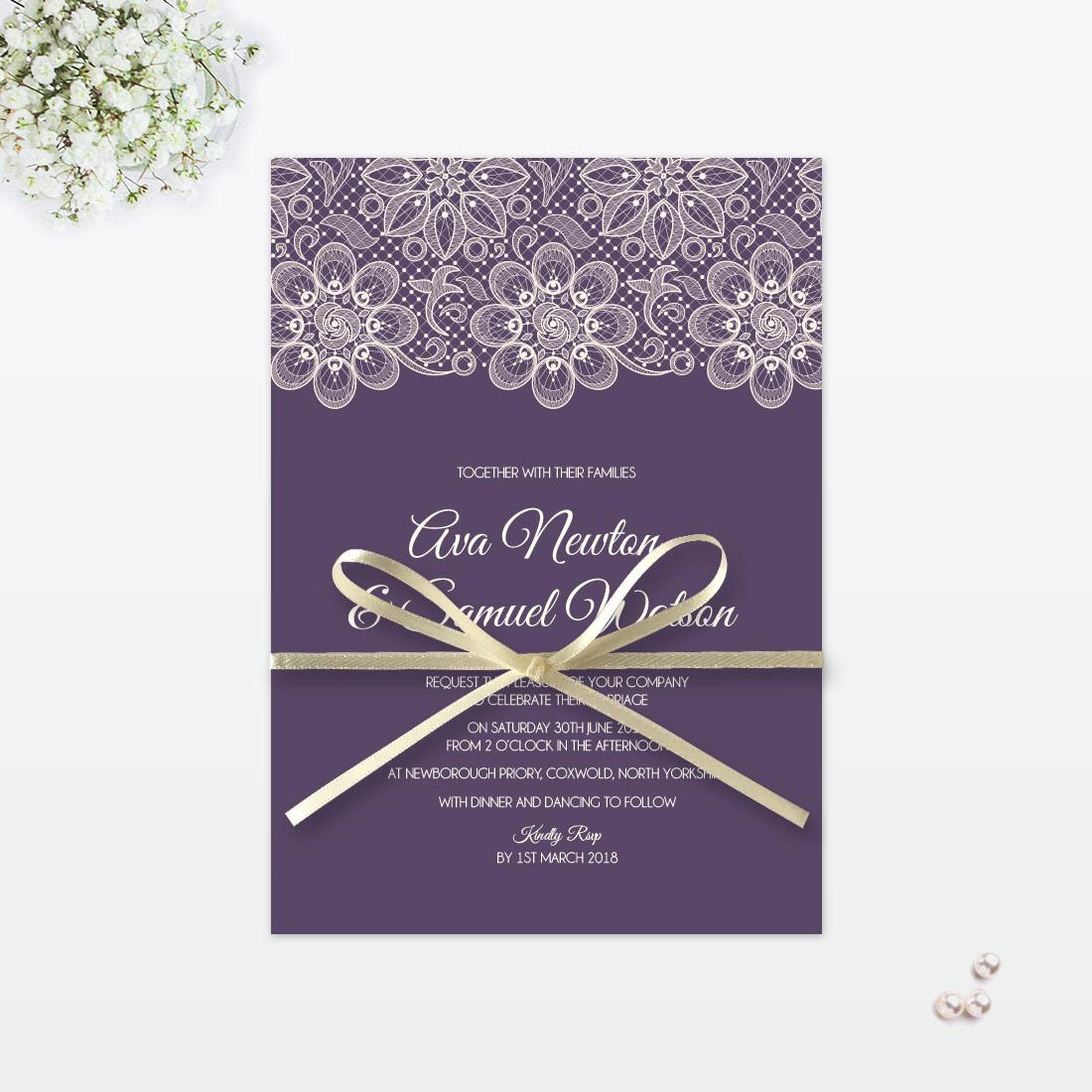Floral Lace Wedding Invitation - Love Invited - Luxury Wedding ...