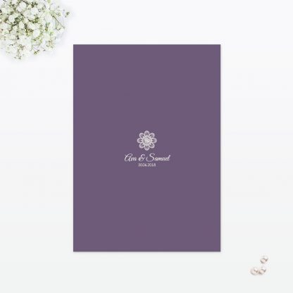 Floral Lace Table Menu - Wedding Stationery