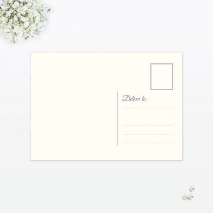 Floral Lace Thank You Card - Wedding Stationery