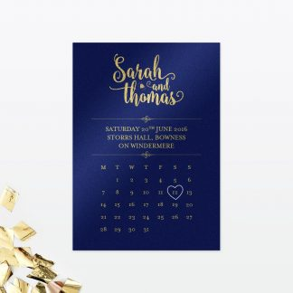 Glitz and Glamour Save the Date - Wedding Stationery