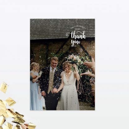 Glitz and Glamour Thank You Card - Wedding Stationery