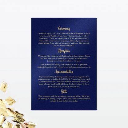 Glitz and Glamour Additional Information - Wedding Stationery