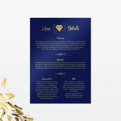 Glitz and Glamour Evening Invitation - Wedding Stationery