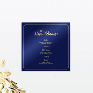 Glitz and Glamour Table Menu - Wedding Stationery