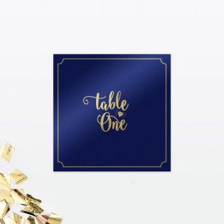 Glitz and Glamour Table Number - Wedding Stationery