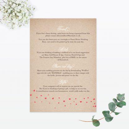 Hearts & Bicycles Wedding Invitation - Wedding Stationery